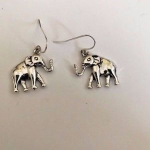 Jewelry - Elephant Earrings Jewelry Trunk Up Dangle Hooks